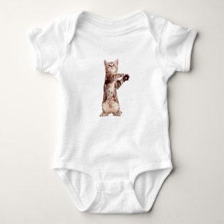 Standing cat - kitty - pet - feline - pet cat baby bodysuit