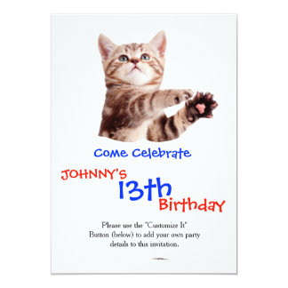 Standing cat - kitty - pet - feline - pet cat card