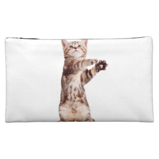 Standing cat - kitty - pet - feline - pet cat cosmetic bags