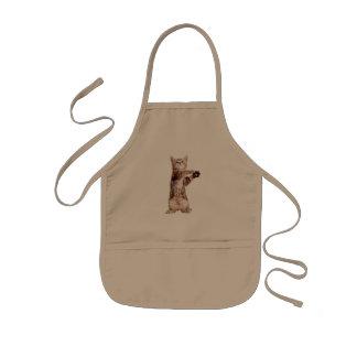 Standing cat - kitty - pet - feline - pet cat kids apron