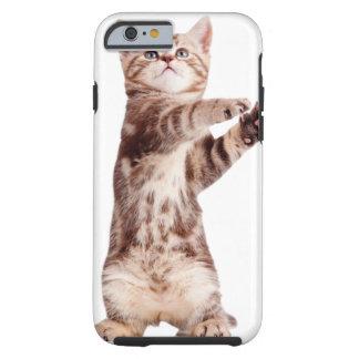 Standing cat - kitty - pet - feline - pet cat tough iPhone 6 case