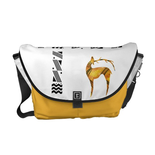 Standing Deer Rickshaw Messenger Bag