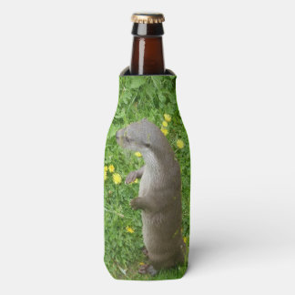 Standing European Otter Bottle Cooler