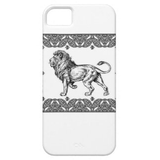 Standing Framed lion Case For The iPhone 5