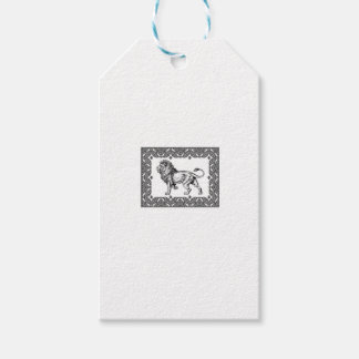 Standing Framed lion Gift Tags