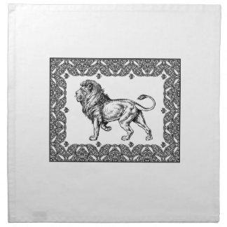 Standing Framed lion Napkin