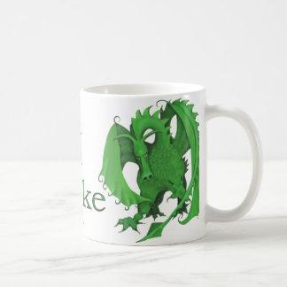 Standing Green Dragon Mug for Mike