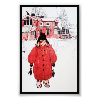 Standing in the Winter Snow Photo Print