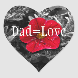 Standing Out; Happy Father's Day Heart Sticker