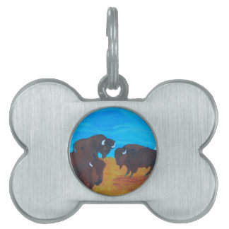 Standing proud pet ID tag