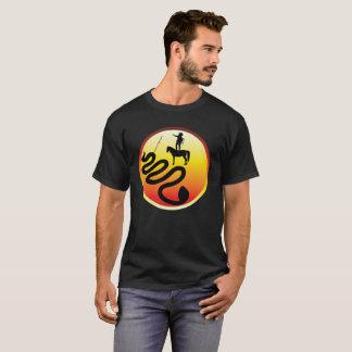 Standing Rock Black Snake Design by Blair Gauntt T-Shirt
