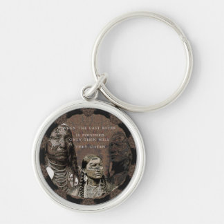 Standing Rock Silver-Colored Round Keychain