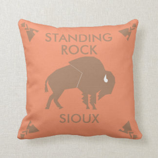 Standing Rock Sioux of North and South Dakota Throw Pillow