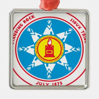 Standing Rock tribe logo Metal Ornament