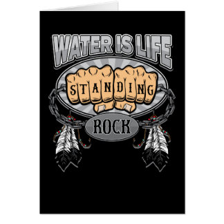 Standing Rock Water is Life Fists Card
