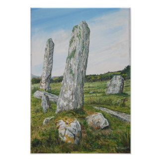 Standing Stones, Castletownbere : Watercolor Print