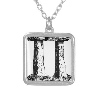 Standing Stones Silver Plated Necklace