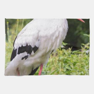 Standing stork towels