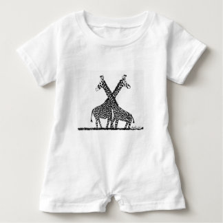 Standing tall together baby romper