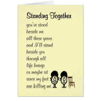 Standing Together - a funny poem about friendship Card