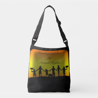 Standing Together for Animal Rights! Crossbody Bag