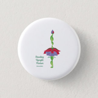 Standing Upright Posture Round Button 1 1/4inch