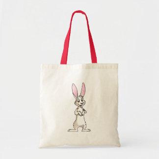 Standing White Rabbit Tote Bag