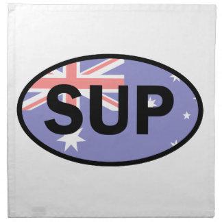 Standup Paddleboard Australia Flag Napkin