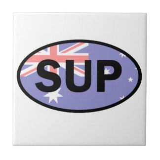 Standup Paddleboard Australia Flag Tile