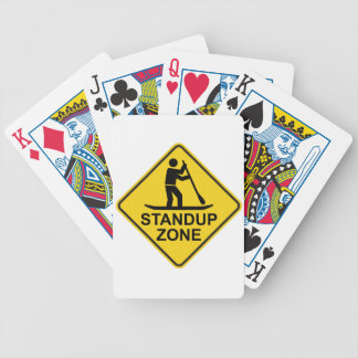 Standup Paddleboarding Zone Road Sign Bicycle Playing Cards