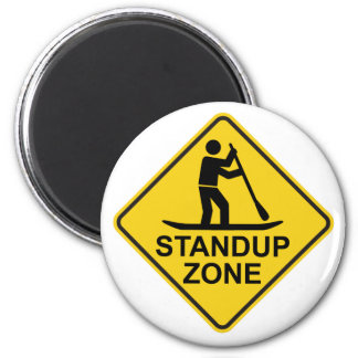 Standup Paddleboarding Zone Road Sign Magnet