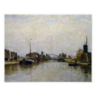 Stanislas Lépine - Le Canal Saint-Martin 1876-82 Poster