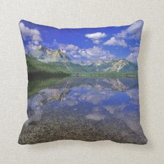 Stanley Lake in the Sawtooth Mountains of Idaho Throw Pillow