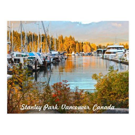 Stanley Park Waterside Postcard