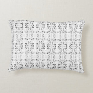'Staple' Black and White Pattern Decorative Pillow