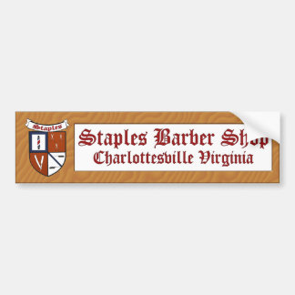 Staples Barber Shop Sticker