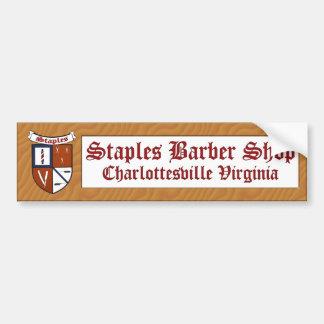 Staples Barber Shop Sticker Bumper Sticker