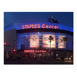staples center postcard