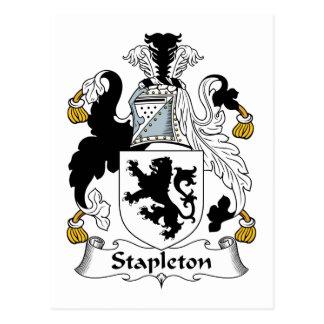 Stapleton Family Crest Postcard