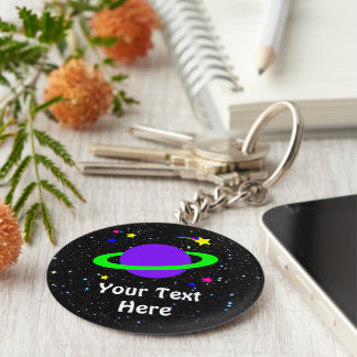 Star and Planet Keychain