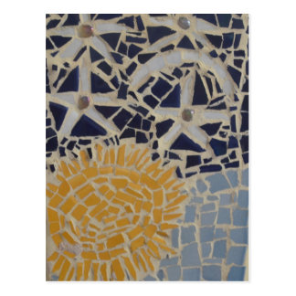Star and sun postcard
