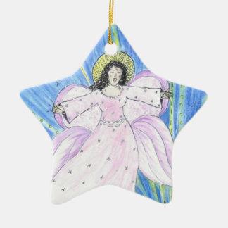 Star  Angel Ceramic Star Ornament