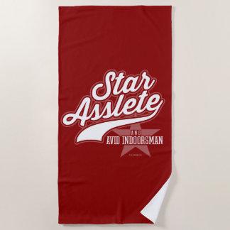 Star Asslete (Avid Indoorsman) Beach Towel