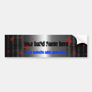 star band template bumper sticker