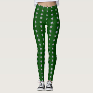 Star Bars Dark Green Leggings