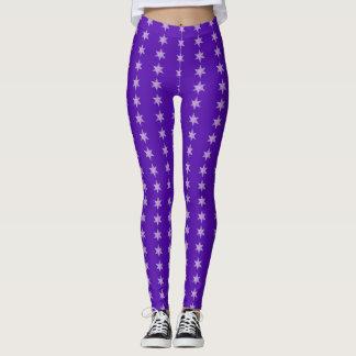 Star Bars Purple Leggings