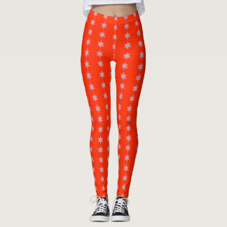 Star Bars Tangerine Leggings