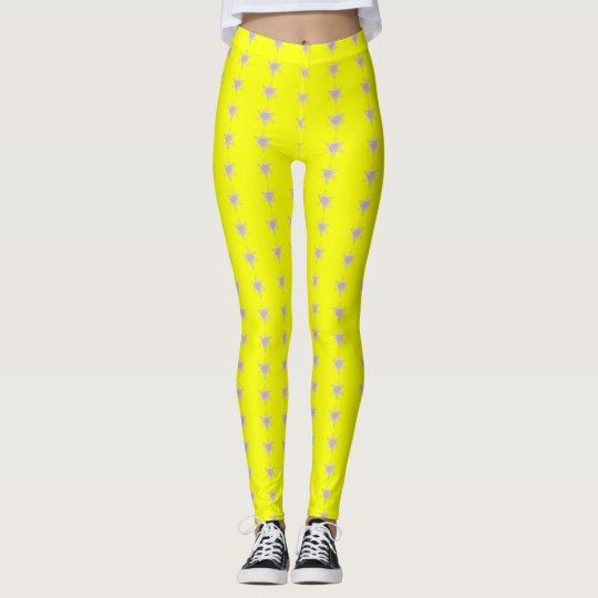 Star Bars Yellow Leggings