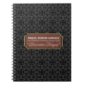 Star Birth Decorative Black Light Modern Notebook