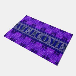 Star Birth Loved Purple Door Mat